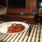 Kochen mit Kitty Heute: Coq au Vin Improvisé avec Risotto Espangne