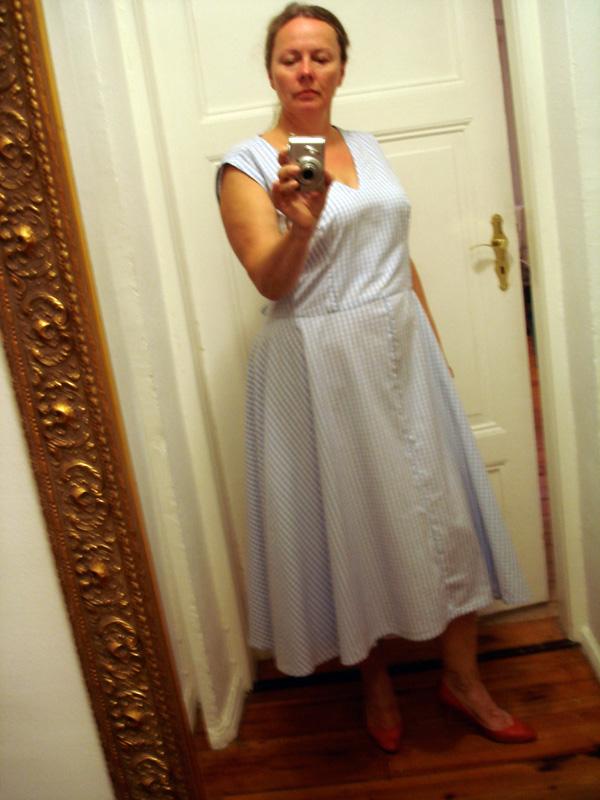 Vichykaro-Kleid