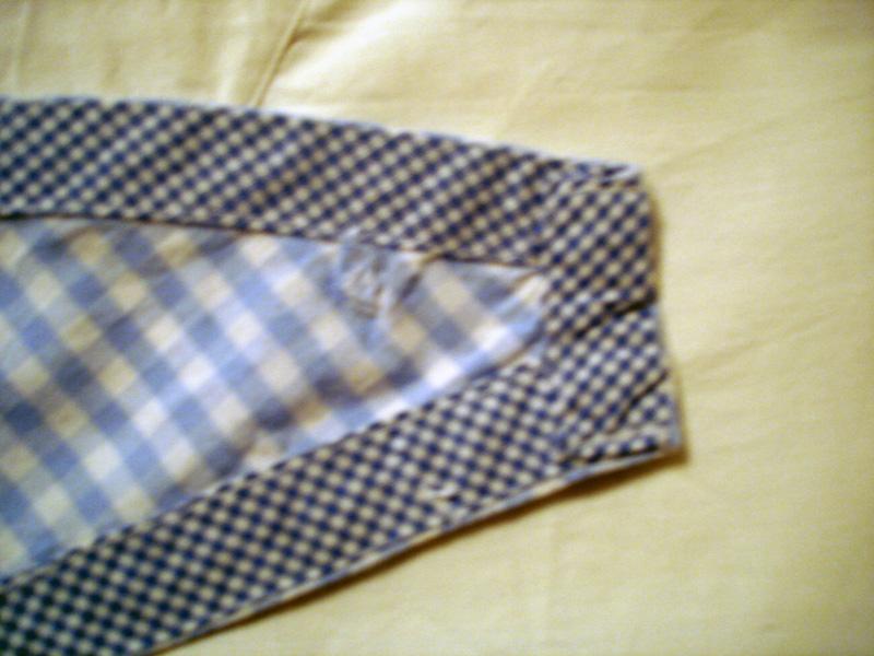 Vichykaro-Kleid Detail