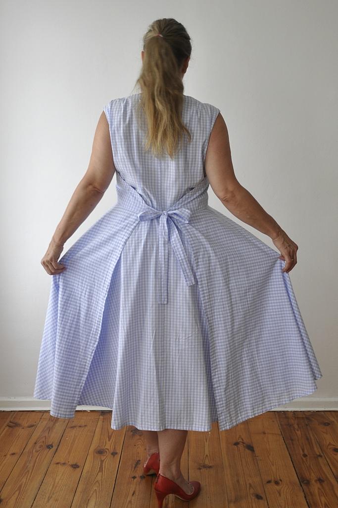 Vichy-Kleid Rückansicht
