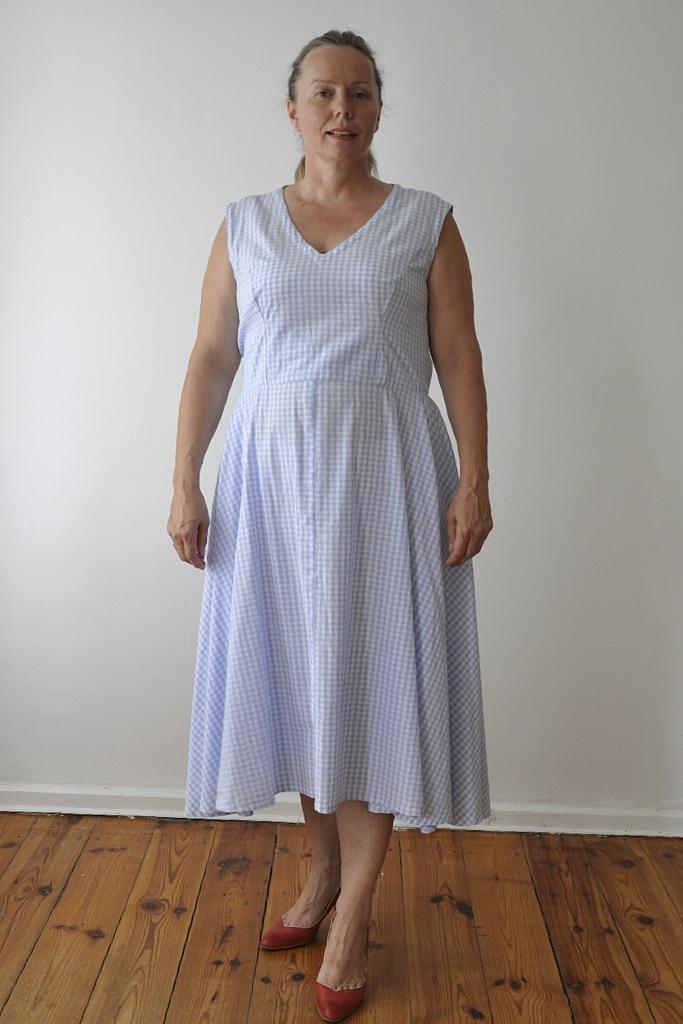Vichy-Kleid Vorderansicht