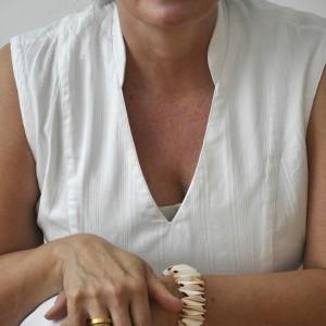 Weisses Kleid Detail