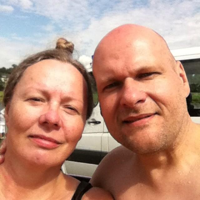 das Ankunftsfoto noch mal für Nichttwitternutzer #elbeschwimmen