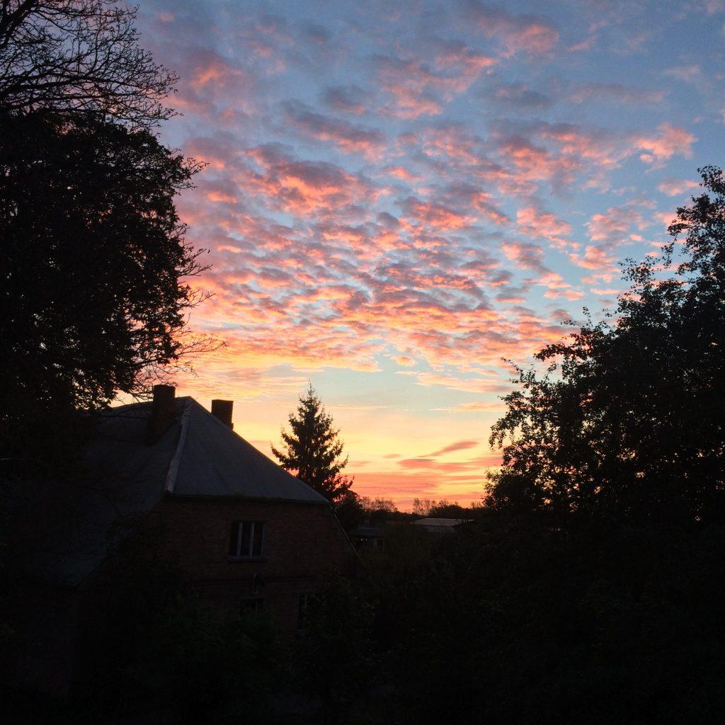 Sonnenaufgang in Bassendorf